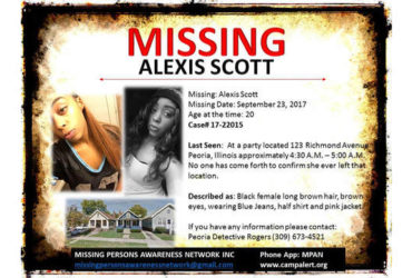 Alexis Scott of Peoria, Illinois – Missing Since September 2017